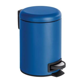 Coș de gunoi cu pedală Wenko Leman, 3 l, albastru închis imagine