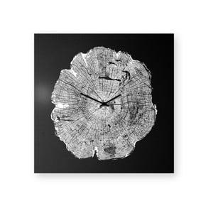 Nástěnné hodiny dESIGNoBJECT.it Life Black,50x50cm