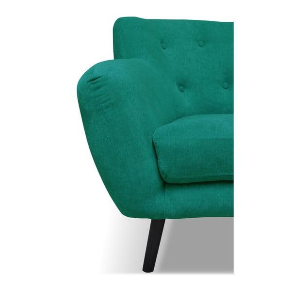 Tmavě zelená pohovka pro tři Cosmopolitan design Hampstead