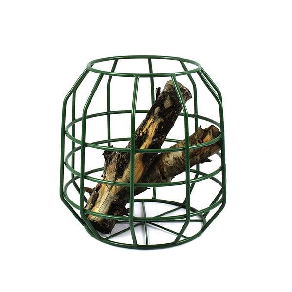 Zelený stolek s deskou z mangového dřeva HF Living Peak