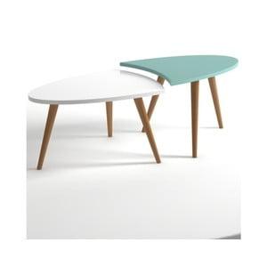 Modro-bílý konferenční stolek Monte Real