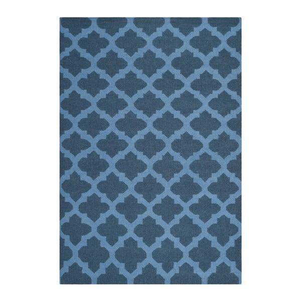 Vlněný koberec Safavieh Salé, 152x243 cm, modrý