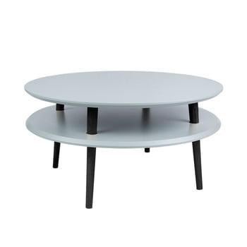 Masă de cafea cu picioare negre Ragaba UFO, Ø 70 cm, gri închis