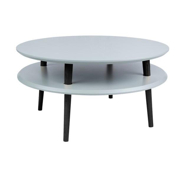UFO sötétszürke kávézó asztal fekete lábakkal, Ø 70 cm - Ragaba