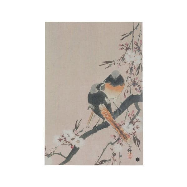 Plakát z ručně vyráběného papíru BePureHome Pinktails, 47x32cm