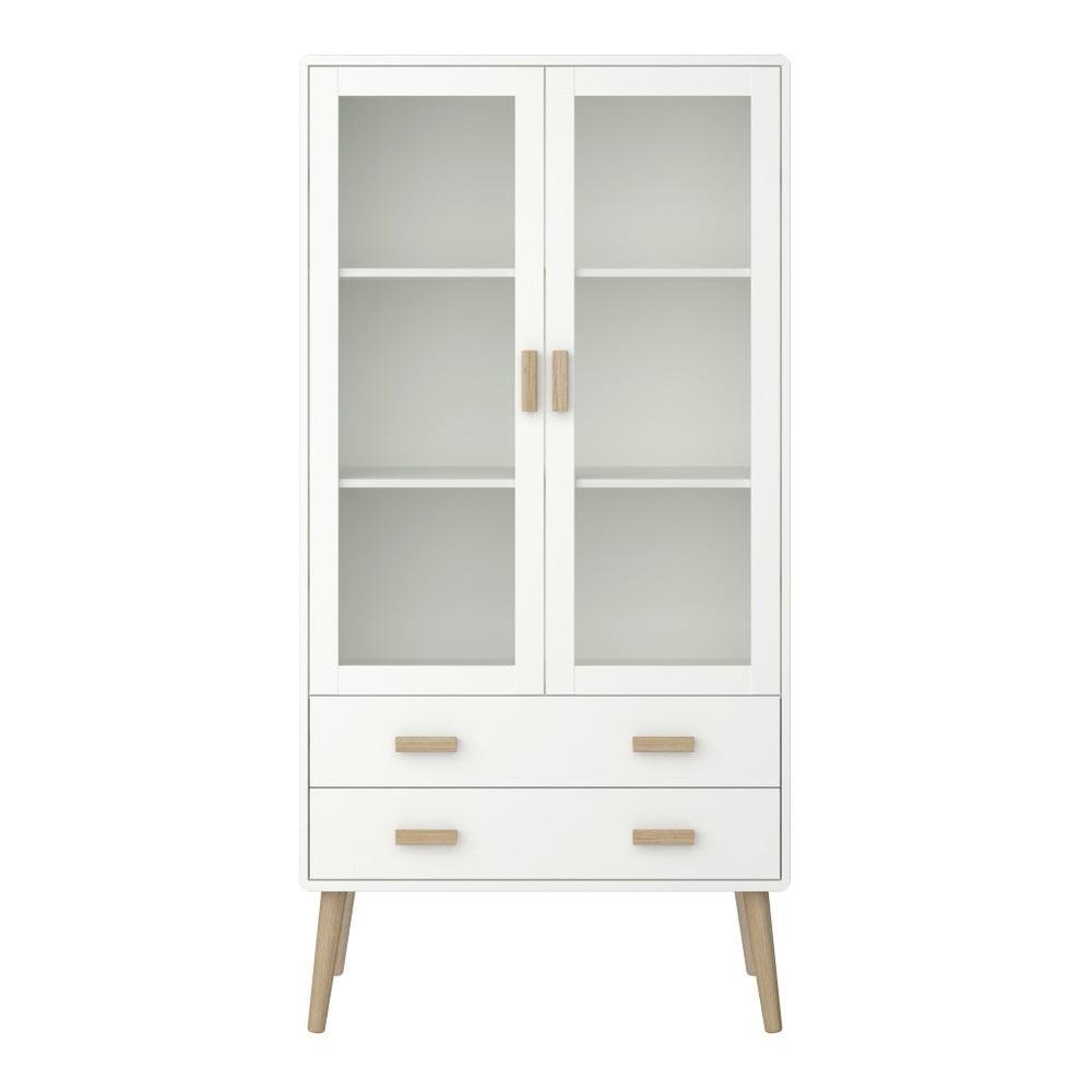 Krémově bílá vitrína Steens Pavona, výška 170,4 cm
