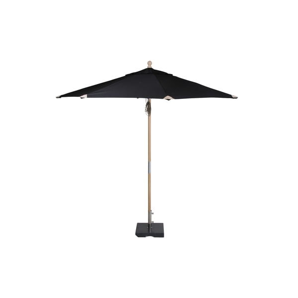 Černý slunečník Brafab Reggio, ∅300cm