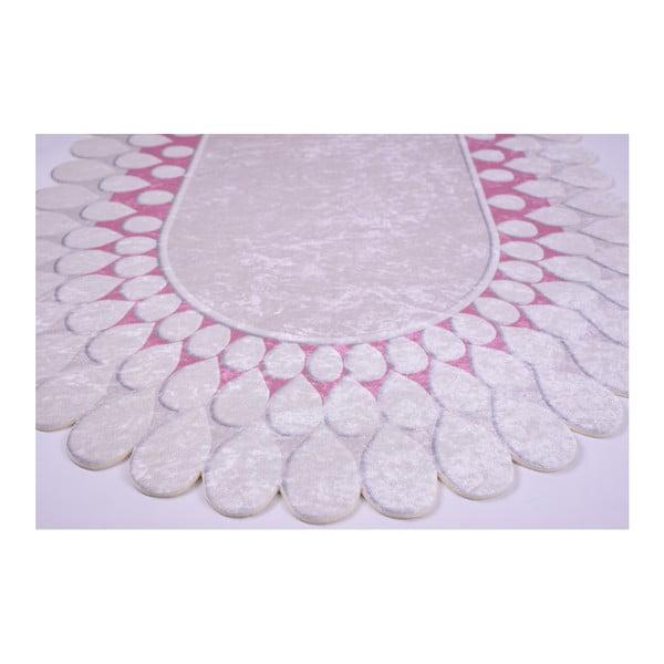 Odolný koberec Vitaus Zinno Oval Pembe, 80 x 150 cm
