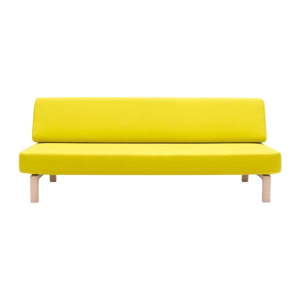 Žlutá rozkládací sedačka Softline Lazy