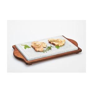 Servírovací podnos s kamennou deskou Stone Plate, 30x52 cm