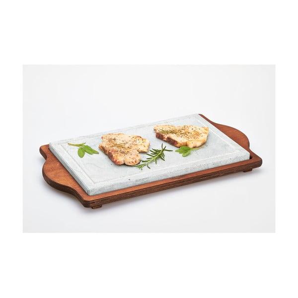 Stone Plate tálaló kőlappal, 25 x 40 cm - Bisetti
