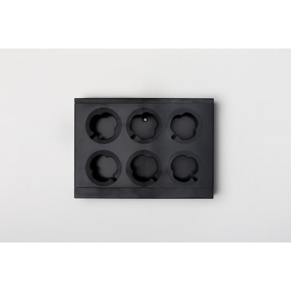 Vertikální květináč HOH! Nero, 38x27 cm