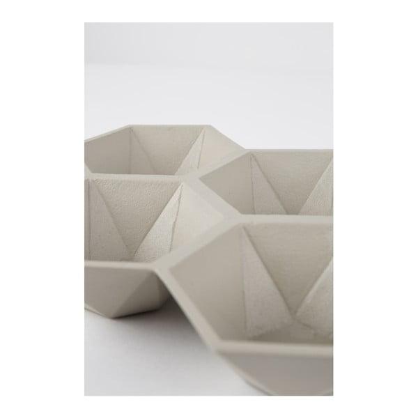 Tavă cu 4 compartimente Zuiver Hexagon, bej
