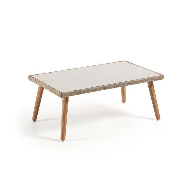 Konferenčný stolík s konštrukciou z eukalyptového dreva La Forma Gillian, 100 x 60 cm