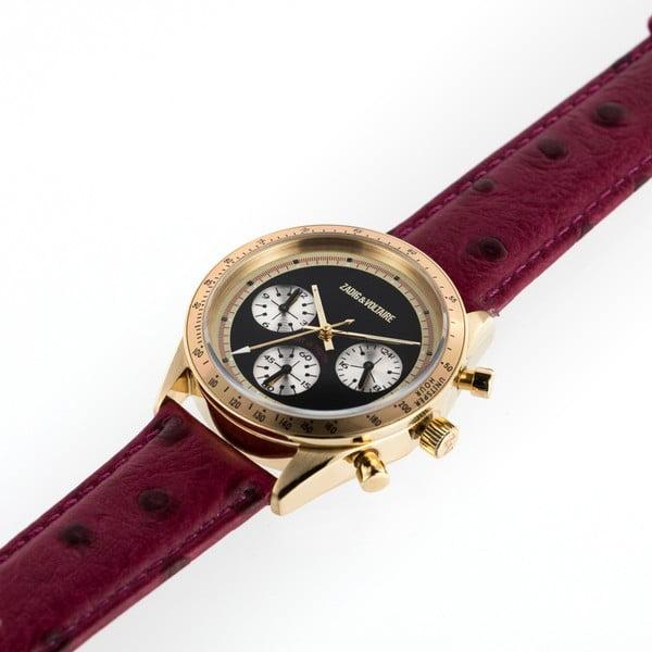 Dámské hodinky s červeným koženým páskem Zadig & Voltaire Milano