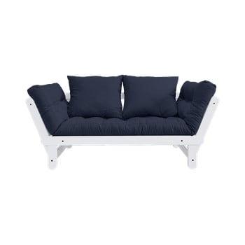 Canapea extensibilă Karup Design Beat White, albastru de la Karup Design