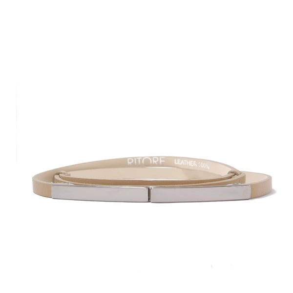 Nastavitelný kožený pásek Etro cappucino, 66 až 100 cm