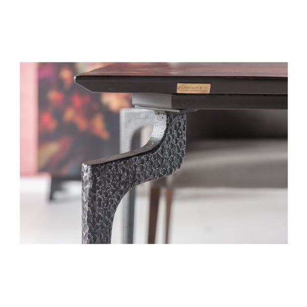 Černý jídelní stůl z recyklovaného dřeva Kare Design Boston, 180 x 90 cm