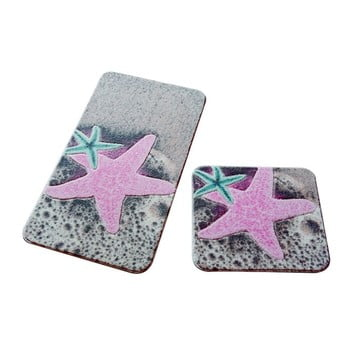 Set 2 covorașe de baie Confetti Bathmats Stars imagine