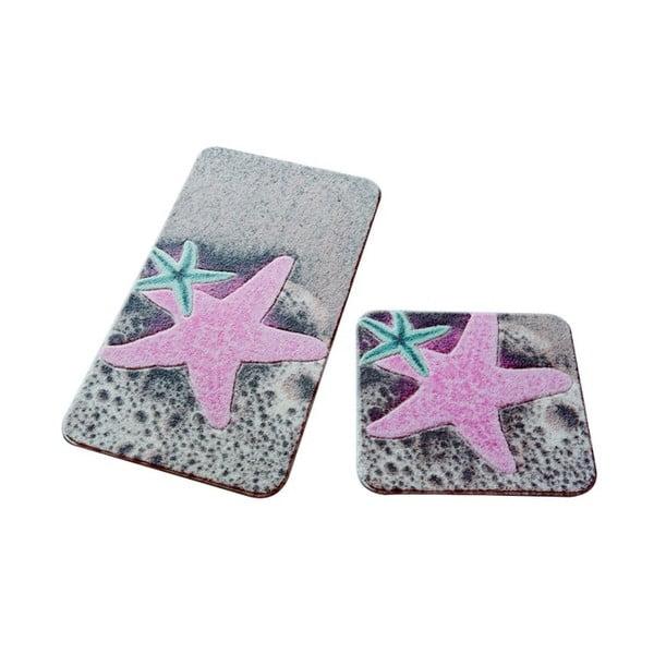 Sada 2 předložek do koupelny Confetti Bathmats Stars