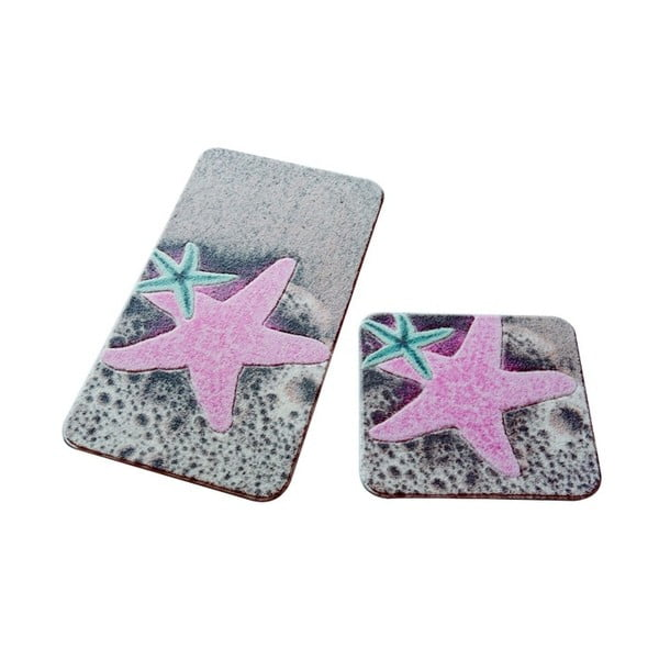Set 2 covorașe de baie Confetti Bathmats Stars