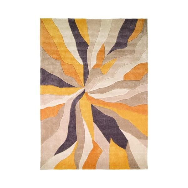 Splinter Ochre szőnyeg, 120 x 170 cm - Flair Rugs