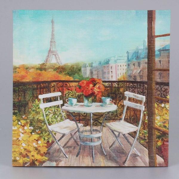 Obraz na plátně Paris Morning, 38x38 cm