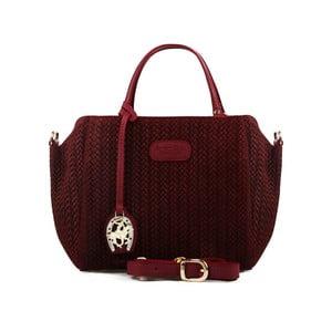 Tmavě červená kožená kabelka Beverly Hills Polo Club Dona