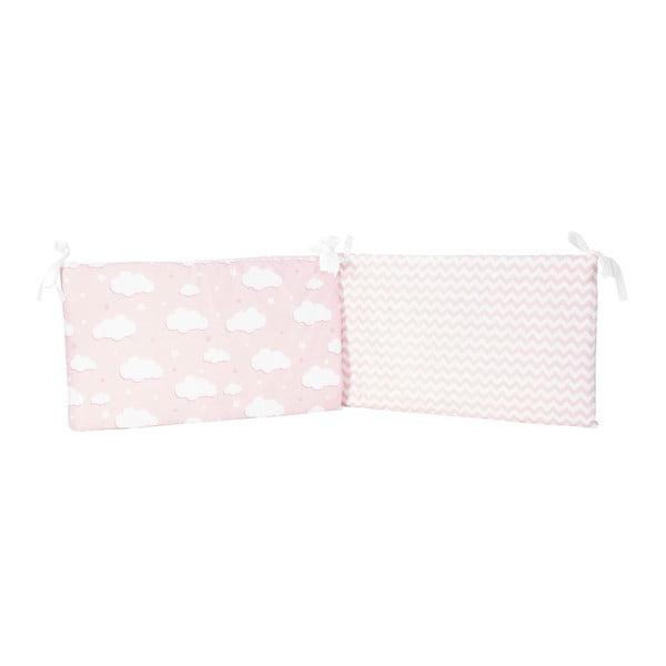 Protecție din bumbac pentru patul copiilor Apolena Carino, 40 x 210 cm, roz
