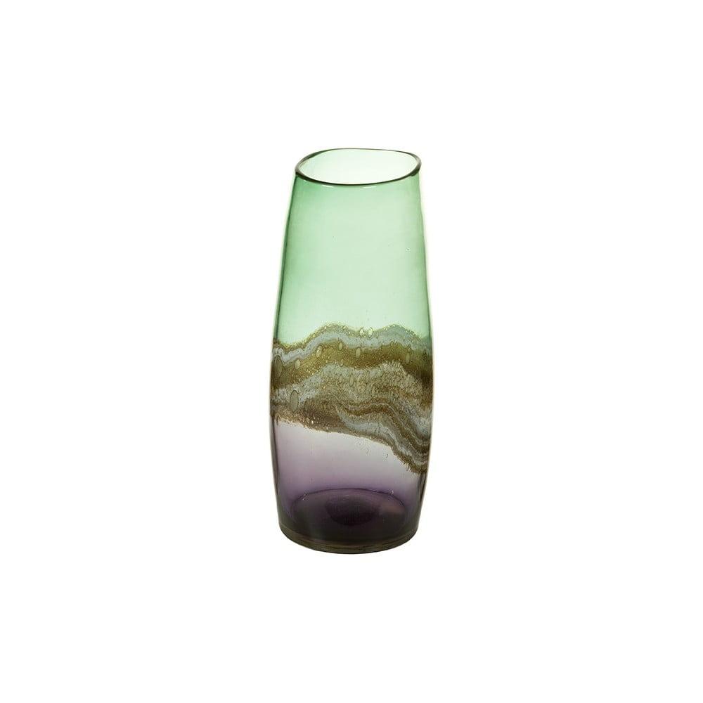 Ručně vyráběná křišťálová váza Santiago Pons Forest, výška36cm
