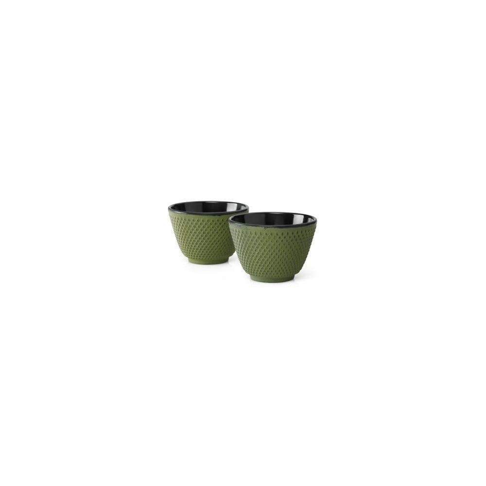 Sada 2 zelených litinových hrnečků Bredemeijer Xilin