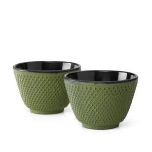 Sada 2 zelenýchlitinových hrnečků na čaj Bredemeijer Xilin