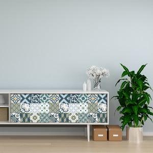 Sada 24 samolepek na nábytek Ambiance Cement Tile Furniture Paulina, 15 x 15 cm