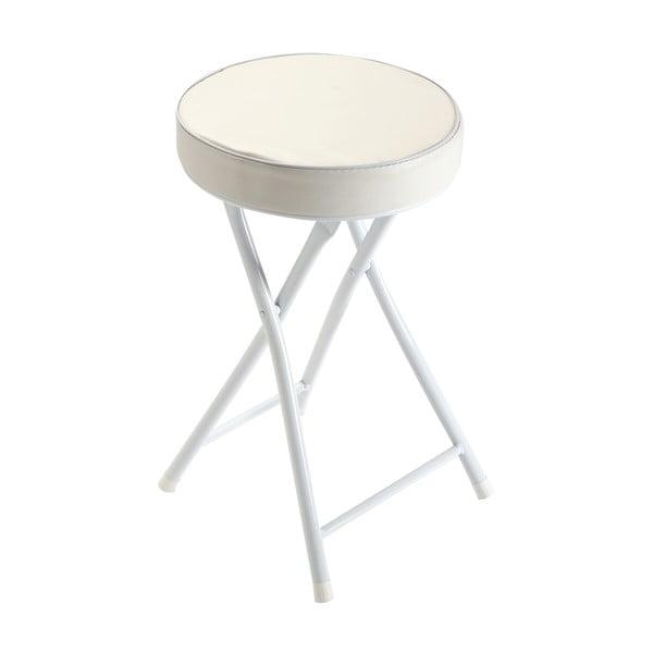 Bílá rozkládací stolička Versa Sam