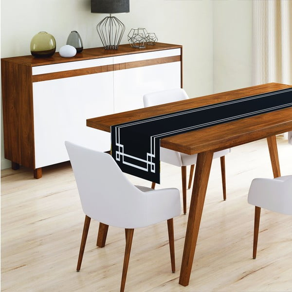 Běhoun na stůl z mikrovlákna Minimalist Cushion Covers Mulia, 45x145cm