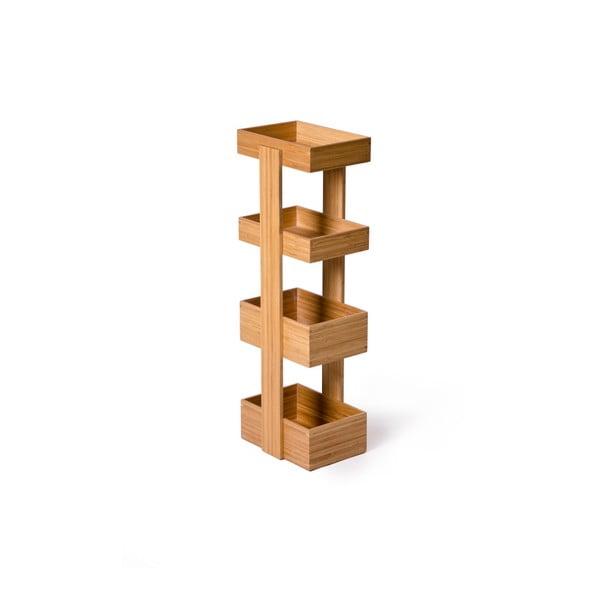 Čtyřpatrový stojan do koupelny Wireworks Caddy Bamboo