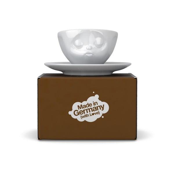 Bílý líbající hrníček na espresso 58products