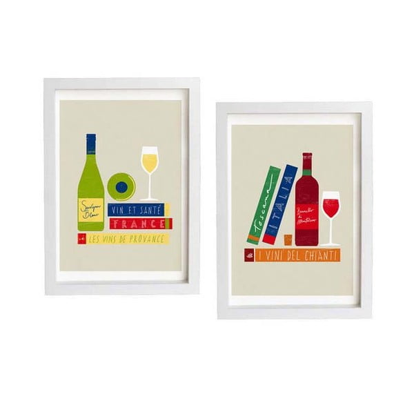 Dva plakáty French&Italian wine art
