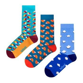 Set 3 perechi de șosete Ballonet Socks Novelty Blue în cutie de cadou, mărime 41 - 46