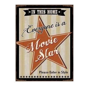 Plechová cedule Movie Star 35x25 cm