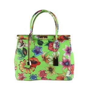 Zelená kožená kabelka Matilde Costa Sapporo