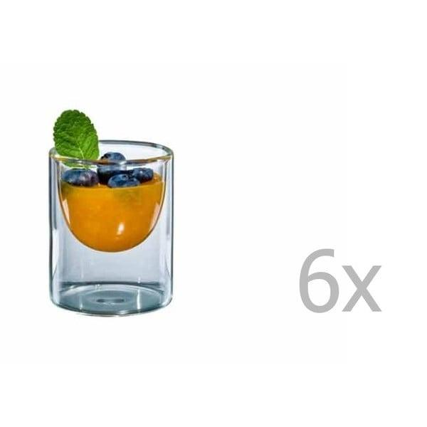 Sada 6 malých skleniček bloomix Half Moon