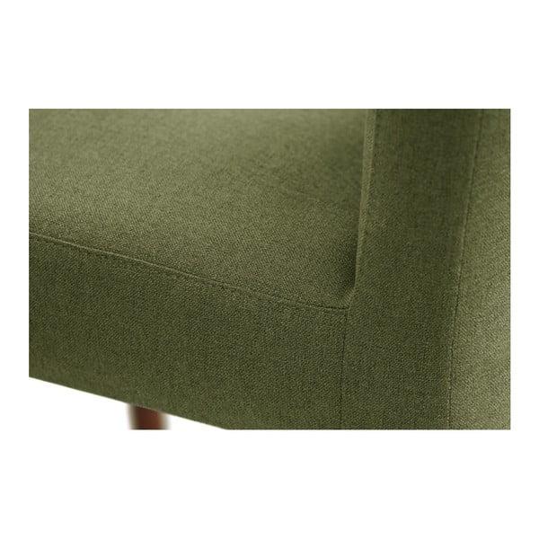 Zelená židle s tmavě hnědými nohami z bukového dřeva Ted Lapidus Maison Fragrance