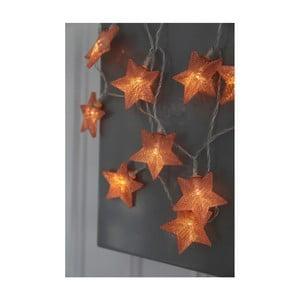 Ghirlandă luminoasă cu LED Best Season Net Stars Copper