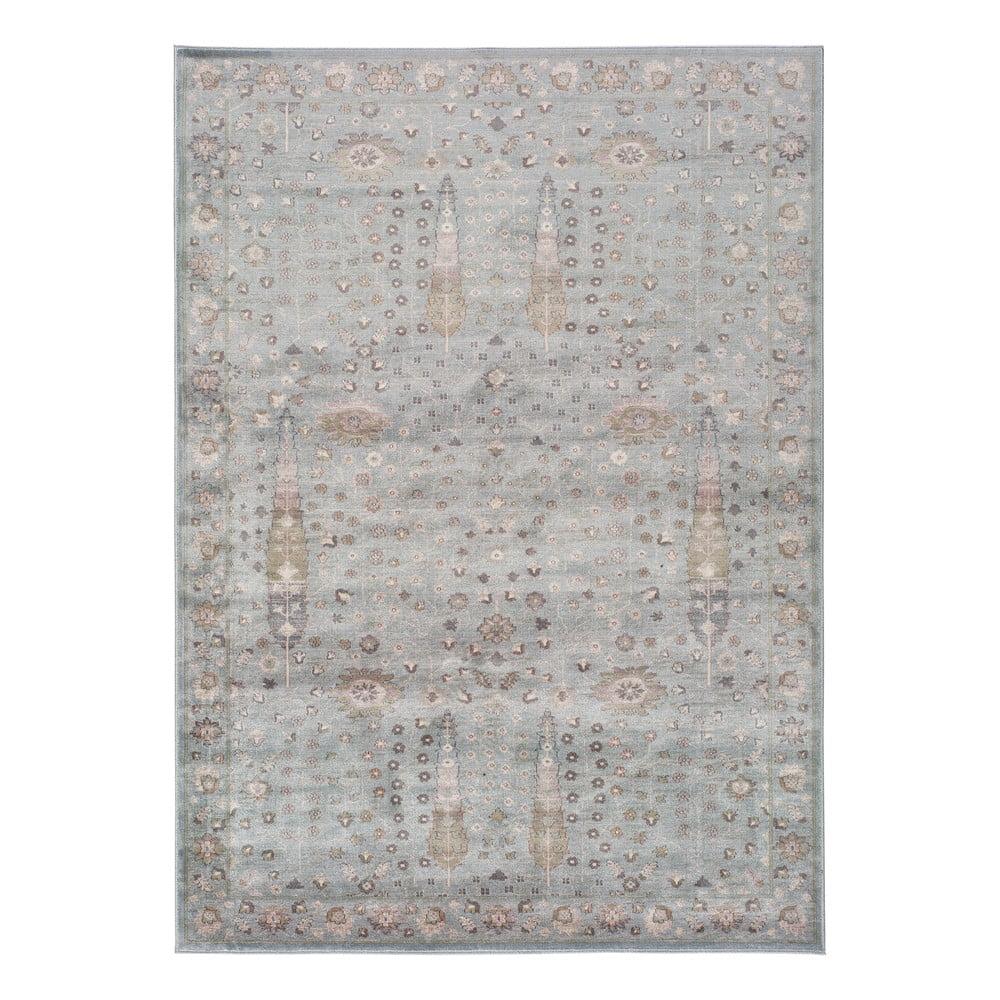 Šedý koberec z viskózy Universal Lara Ornament, 120x170cm