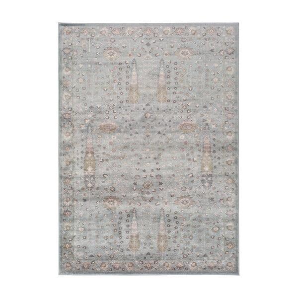 Šedý koberec z viskózy Universal Lara Ornament, 60x110cm