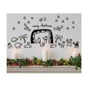 Samolepka Mini-Nativity scene 28x31 cm