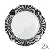Porcelánový talíř  Toile od Lisbeth Dahl, 29 cm, 2 ks