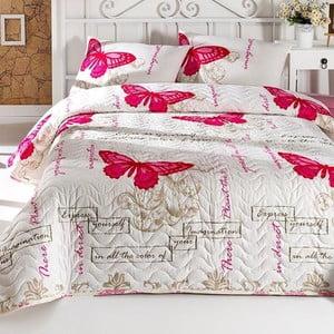 Sada přehozu přes postel a polštáře Cream, 160 x 220 cm