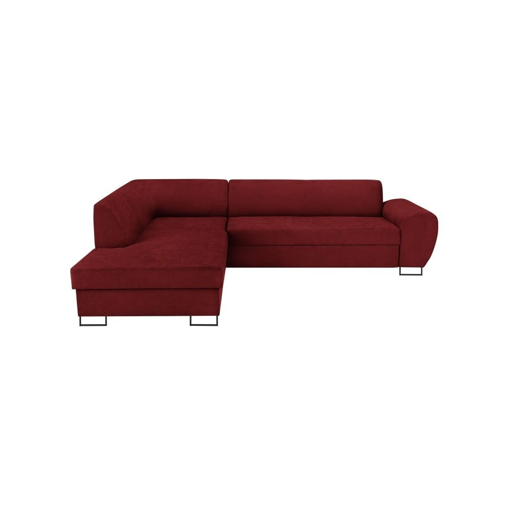 Červená rohová rozkládací pohovka s úložným prostorem Kooko Home XL Left Corner Sofa Puro